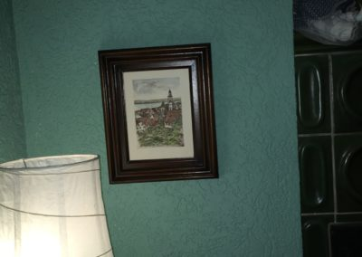 Wohnzimmer DEKO am Kachelofen